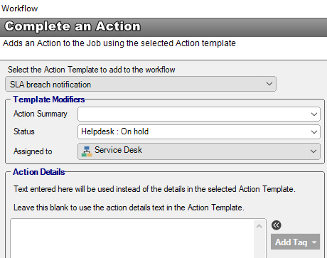 workflow action template override