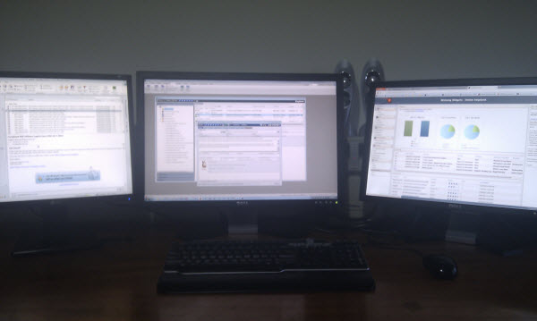 software development requires 3 monitors