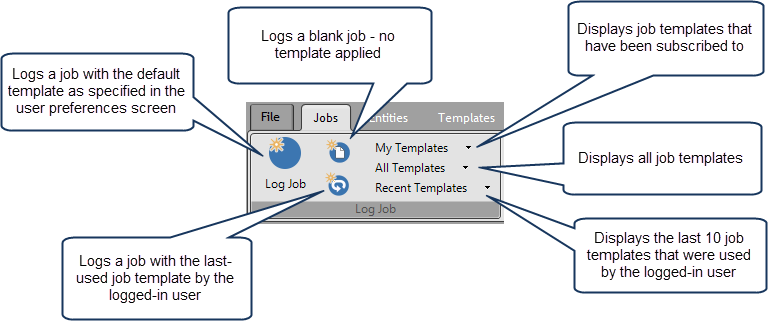 log new job toolbar