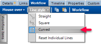 workflow line style
