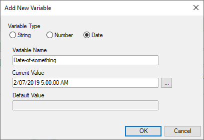 workflow date variables